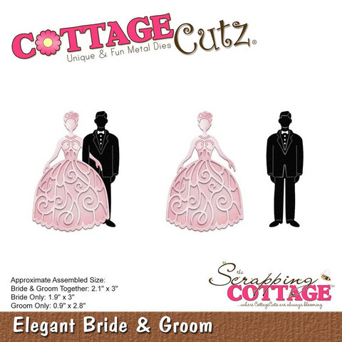 Cottage Cutz - Stanssi, Elegant Bride & Groom