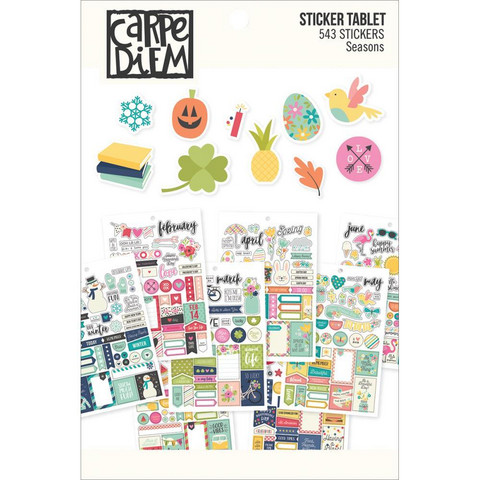 Simple Stories - 2-LAATU Carpe Diem (A5) Seasons Sticker Tablet, 543 tarraa