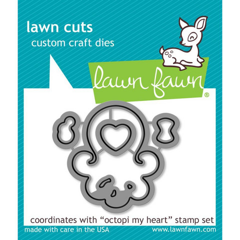 Lawn Fawn - Stanssisetti, Octopi My Heart