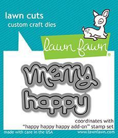 Lawn Fawn - Happy Happy Happy, Stanssisetti
