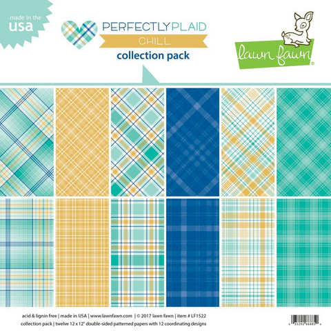 Lawn Fawn - Perfectly Plaid Chill 12