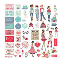 Prima Marketing - Julie Nutting Ephemera Cardstock Die-Cuts, January & February