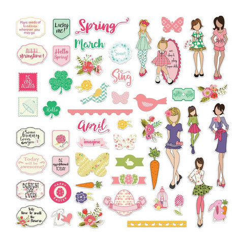 Prima Marketing - Julie Nutting Ephemera Cardstock Die-Cuts, March & April