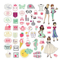 Prima Marketing - Julie Nutting Ephemera Cardstock Die-Cuts, May & June