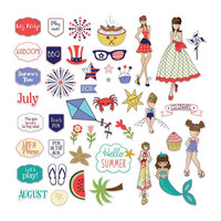 Prima Marketing - Julie Nutting Ephemera Cardstock Die-Cuts, July & August