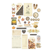 Prima Marketing - Amber Moon Ephemera Cardstock Die-Cuts, 49 osaa