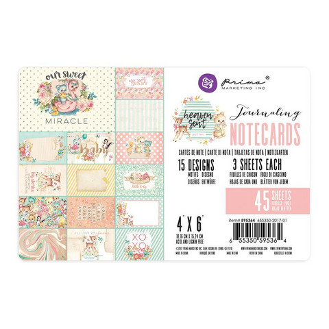 Prima Marketing - Heaven Sent 2 Journaling Notecards, 4
