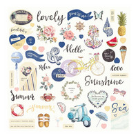 Prima Marketing - St. Tropez Ephemera Cardstock Die-Cuts, 71 osaa
