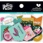 Illustrated Faith - Gratitude Documented Designer Clips, 16kpl