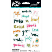 Illustrated Faith - Gratitude Documented Clear Stickers, Tarrasetti