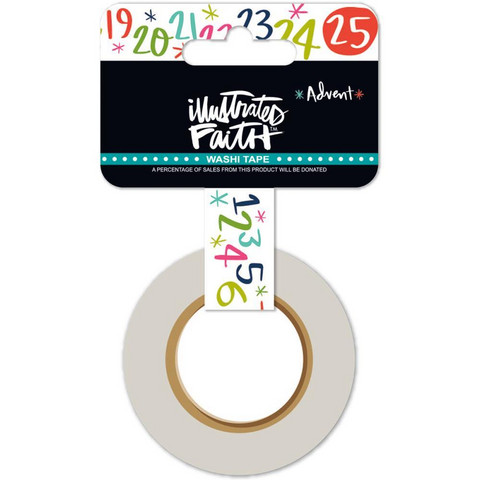 Illustrated Faith - Advent Washi Tape, Christmas Countdown