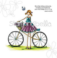 Stamping Bella - Flora & Her Bicycle, Leimasin