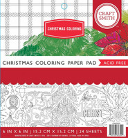 Craft Smith - Christmas Coloring, 6''x6'', 24 sivua