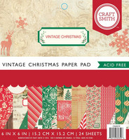 Craft Smith - Vintage Christmas, 6''x6'', 24 sivua