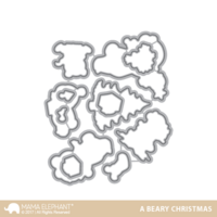 Mama Elephant - A Beary Christmas, Creative Cuts, Stanssisetti