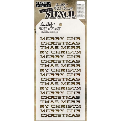 Tim Holtz - Layered Stencil, Merry Christmas