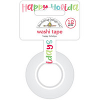 Doodlebug - Happy Holidays Washi Tape, 15mmX11m