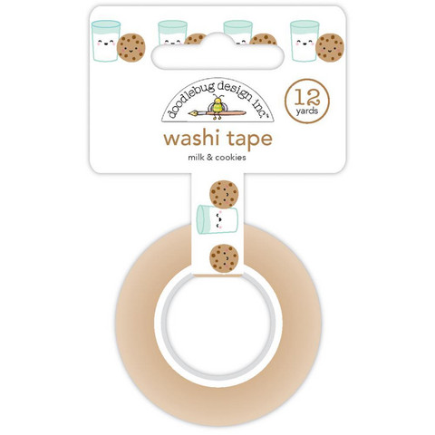 Doodlebug - Milk & Cookies Washi Tape, 15mmX11m