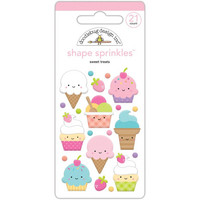Doodlebug - Fairy Tales Sweet Treats, Sprinkles Adhesive Glossy Enamel Shapes
