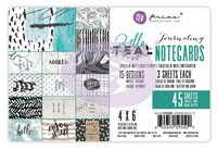 Prima Marketing - Zella Teal - 4x6 Journaling Cards, 4