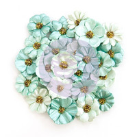 Prima Marketing -  Zella Teal Flowers, Zella Dreams