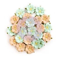 Prima Marketing -   Zella Teal Flowers, Blissful Delight