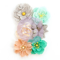 Prima Marketing -  Zella Teal Flowers, Made With Love