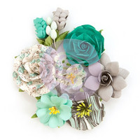 Prima Marketing -   Zella Teal Flowers, Wanderer