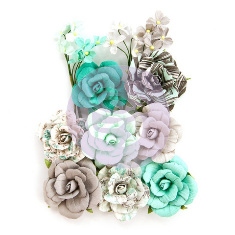 Prima Marketing - Zella Teal Flowers, Teal Love