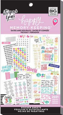 MAMBI - Happy Planner Memory Keeping, BIG - Dates and Holidays, tarrasetti