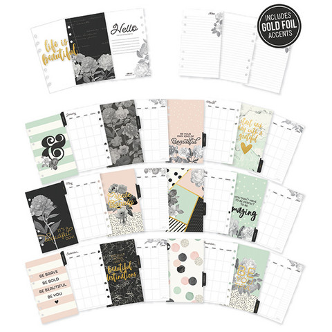 Simple Stories - Carpe Diem Beautiful, Personal Inserts Monthly