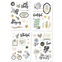 Simple Stories - Beautiful Stickers, Tarrasetti, 4 arkkia