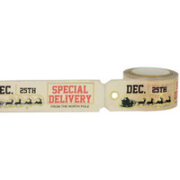 Little B - Christmas Tag Die Cut Gold Foil Decorative Tape, 25mmx8m