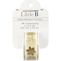 Little B - Snowflakes Foil Decorative Tape, 25mmx10m
