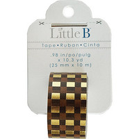 Little B - Autumn Plaid Foil Decorative Tape, 25mmx10m
