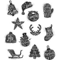 Tim Holtz - Mini Carved Christmas, Leimasetti