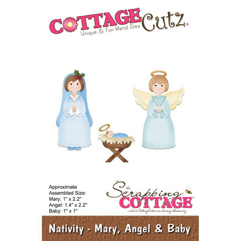 Cottage Cutz - Mary, Angel & Baby, Stanssi