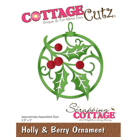 Cottage Cutz - Holly & Berry Ornament, Stanssi