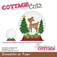 Cottage Cutz - Snowglobe With Fawn, Stanssi