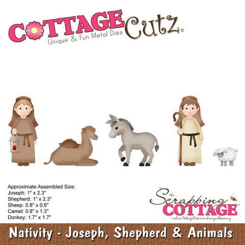 Cottage Cutz - Joseph, Shepherd & Animals, Stanssi