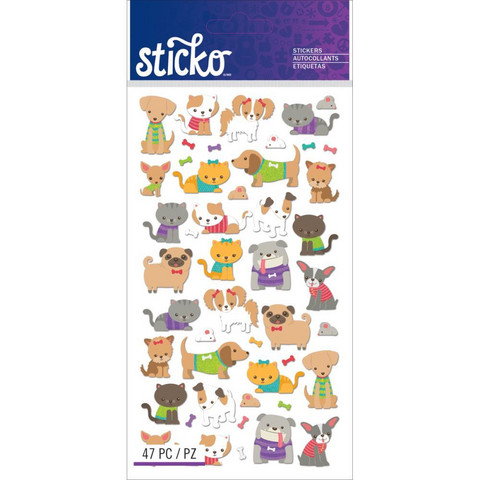 Sticko - Tiny Cats & Dogs, tarra-arkki