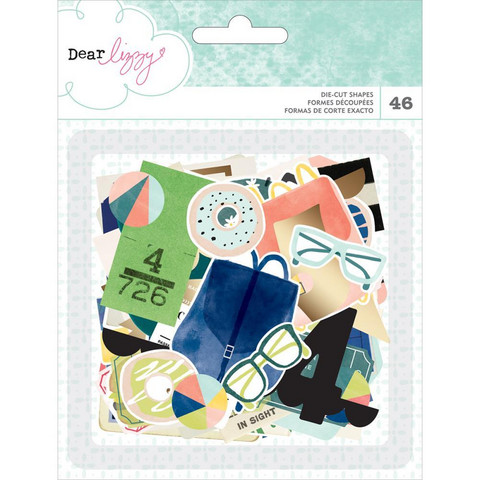 Dear Lizzy - Saturday Ephemera Cardstock Die-Cuts, 46 osaa