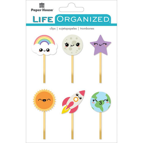 Paper House - Life Organized Epoxy Clips, Kawaii, 6 kpl