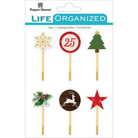 Paper House - Life Organized Epoxy Clips, Christmas, 6 kpl
