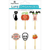Paper House - Life Organized Epoxy Clips, Halloween, 6 kpl