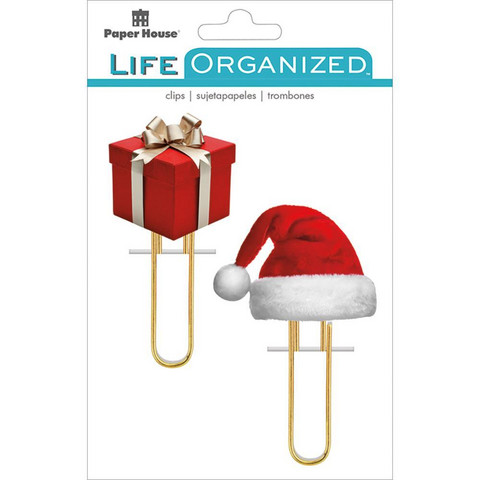 Paper House - Life Organized Puffy Clips, Christmas, 2 kpl