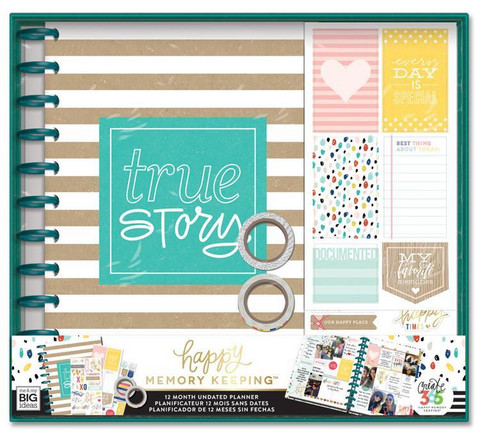 MAMBI - Happy Planner Memory Keeping, BIG Box Kit, True Story Kraft