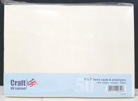 Craft UK - Korttipohja, kerma, 5