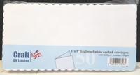 Craft UK - Korttipohja, valkoinen piparireuna, 5