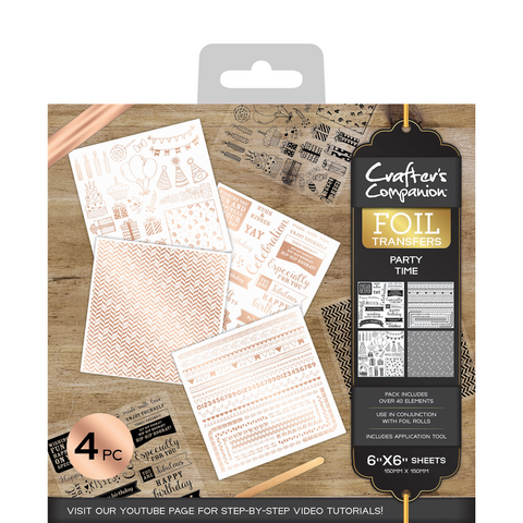 Crafter's Companion Foil Transfers - Party Time
